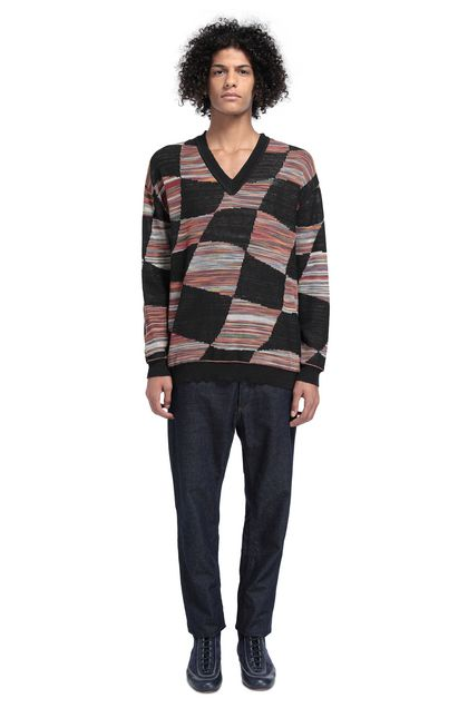 MISSONI V-Neck Black Man - Front