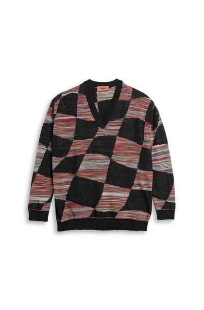 MISSONI V-Neck Black Man - Back
