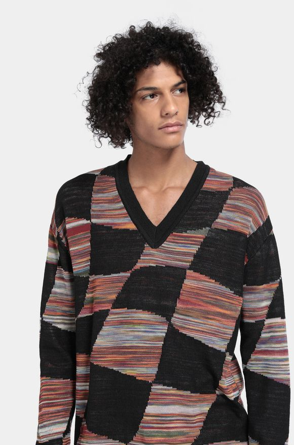 MISSONI V-Neck Black Man