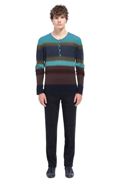 MISSONI Wallace shirt Blue Man - Front