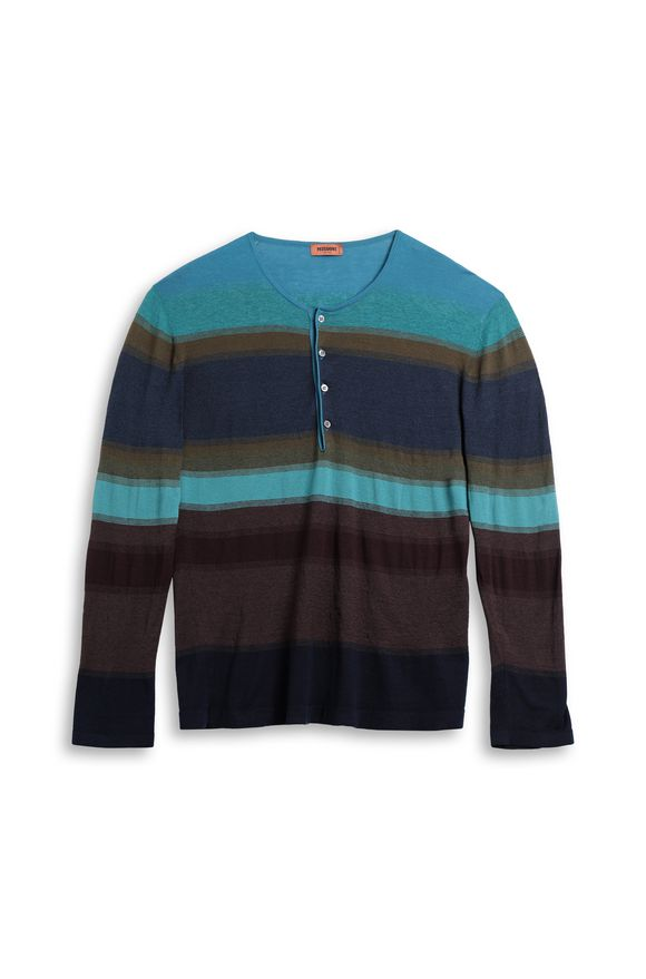 MISSONI Wallace shirt Blue Man