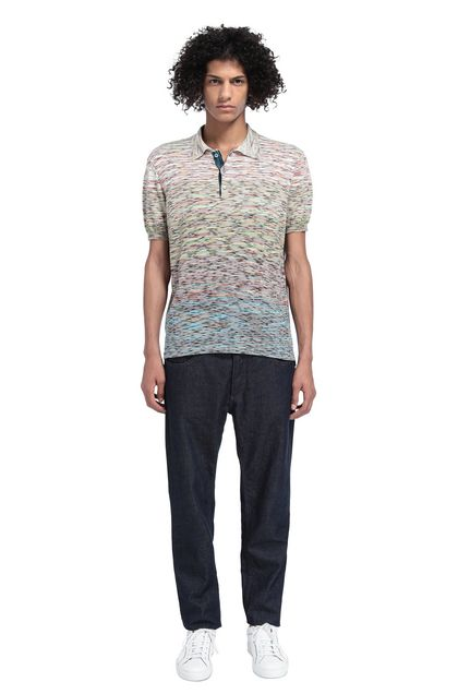 MISSONI Men's polo Green Man - Front
