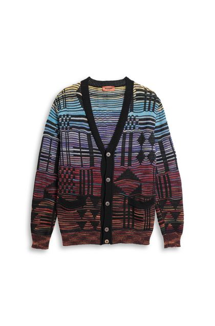MISSONI Cardigan Black Man - Back