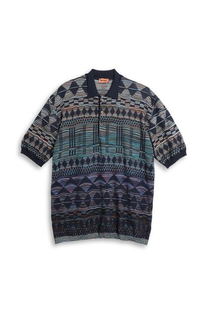 MISSONI Polo Dark blue Man - Back