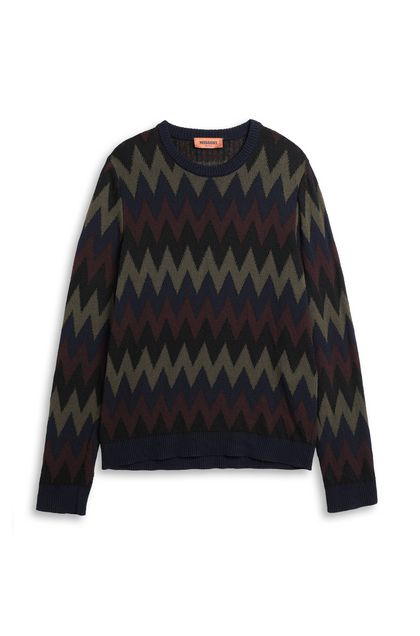 MISSONI Crew-neck Dark blue Man - Back