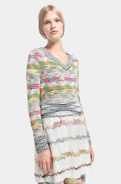 MISSONI Sweater White Woman - Back