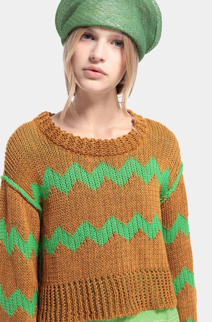 MISSONI Jumper Camel Woman - Front