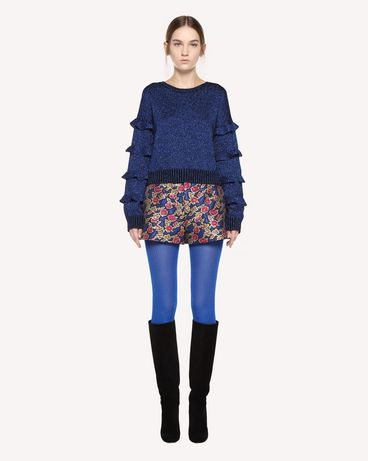 REDValentino Wool lurex jumper with ruffle detail