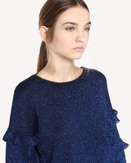REDValentino Wool lurex sweater with ruffle detail