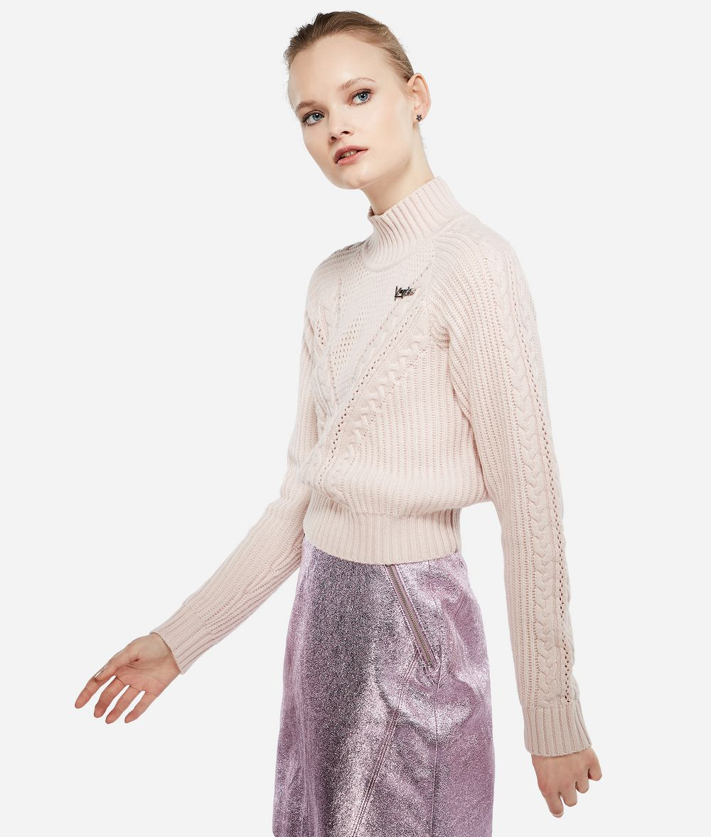 KARL LAGERFELD Karl x Kaia Cropped-Pullover Pullover Damen f