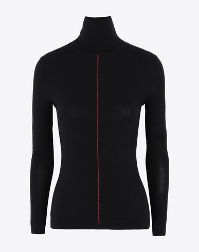 MAISON MARGIELA Pull manches longues Femme High-neck knit pullover f