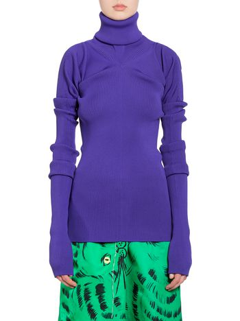Marni Turtleneck in purple viscose and polyester Woman