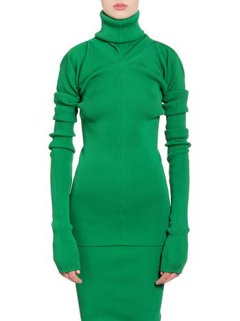 Marni Turtleneck in green viscose and polyester Woman