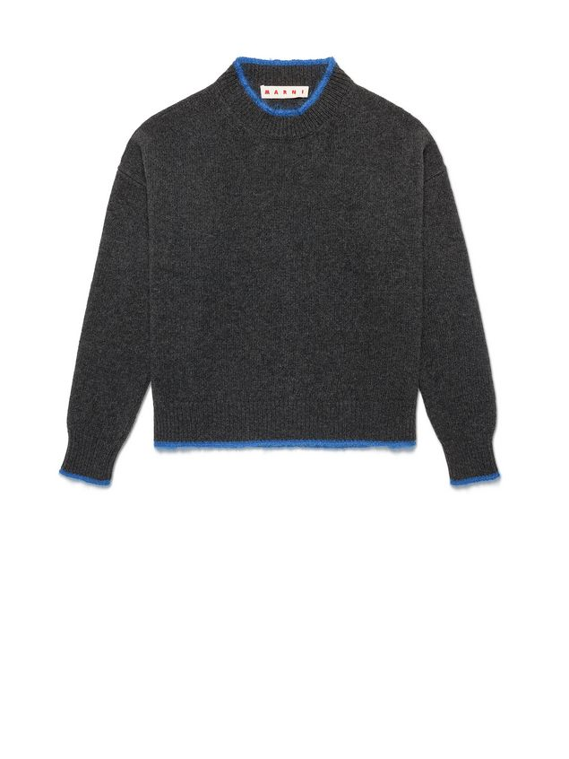 Marni Turtleneck in green and blue wool and nylon Woman - 2