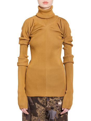 Marni Turtleneck in brown viscose and polyester Woman