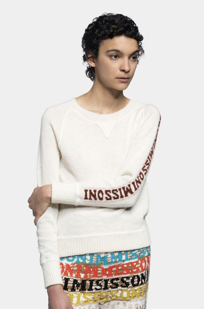 MISSONI Crew-neck Ivory Woman - Front
