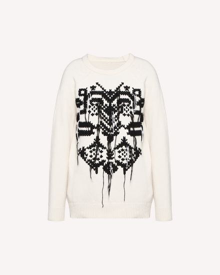 REDValentino Knit Sweater Woman QR0KC1E044Y E01 a