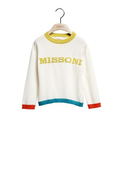 MISSONI KIDS Crew-neck Ivory Woman - Back