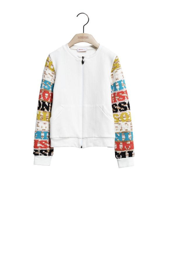MISSONI Zip Jumper Woman, Frontal view