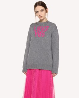 "REDValentino Wool jacquard ""Love You"" sweater"