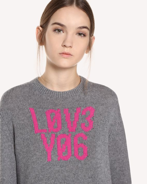 "REDValentino Wool jacquard ""Love You"" jumper"