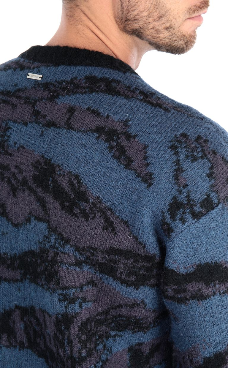 JUST CAVALLI Long-sleeve jacquard pullover Sweater Man e