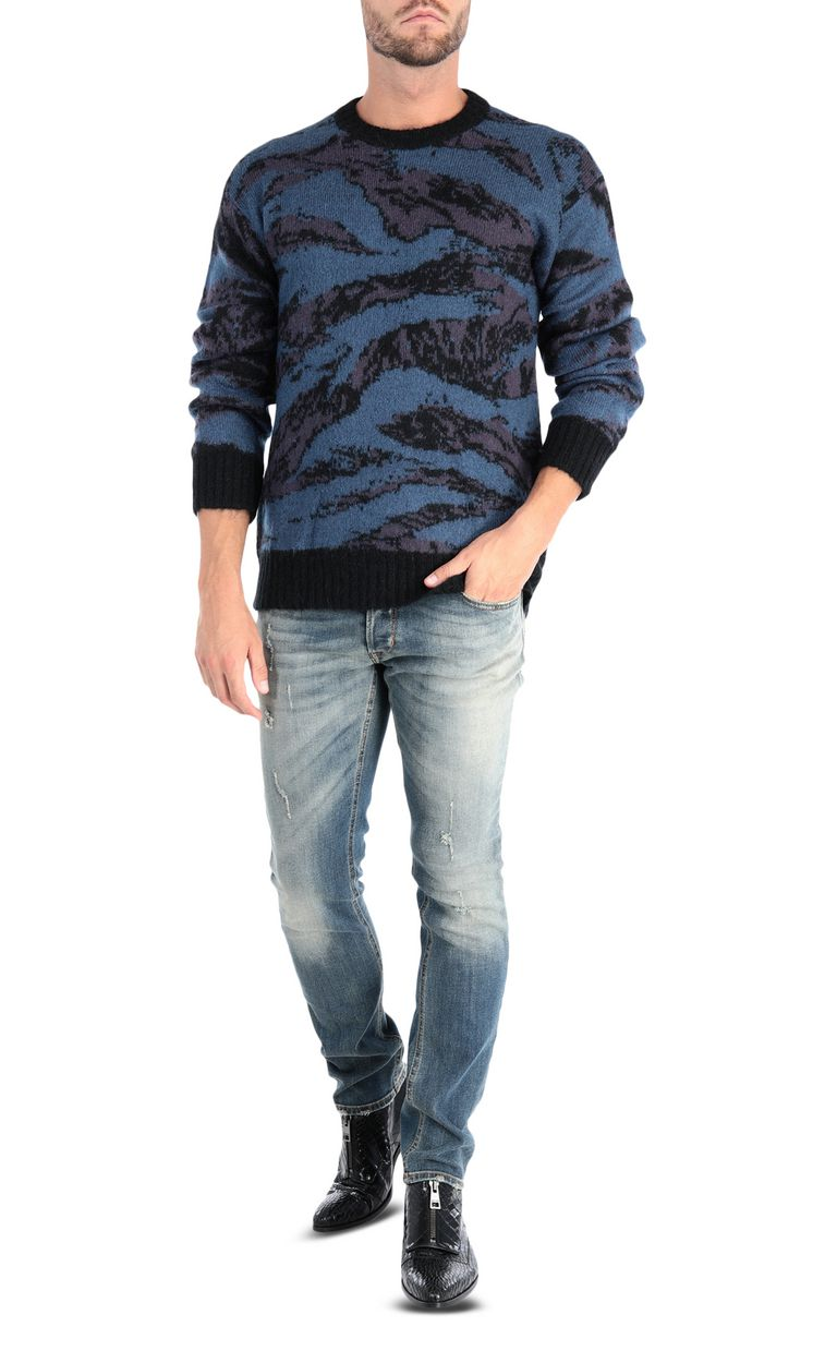 JUST CAVALLI Long-sleeve jacquard pullover Sweater Man r