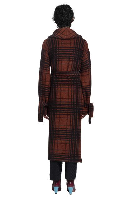 MISSONI Long cardigan Rust Woman - Front