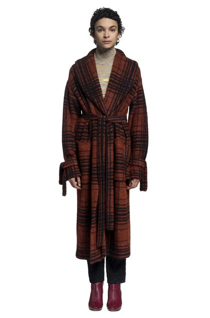 MISSONI Long cardigan Rust Woman - Back