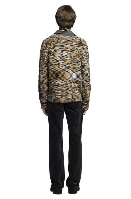 MISSONI V-Neck Ochre Man - Front