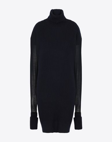 MAISON MARGIELA High neck sweater Woman Long sweater with mesh sleeves f