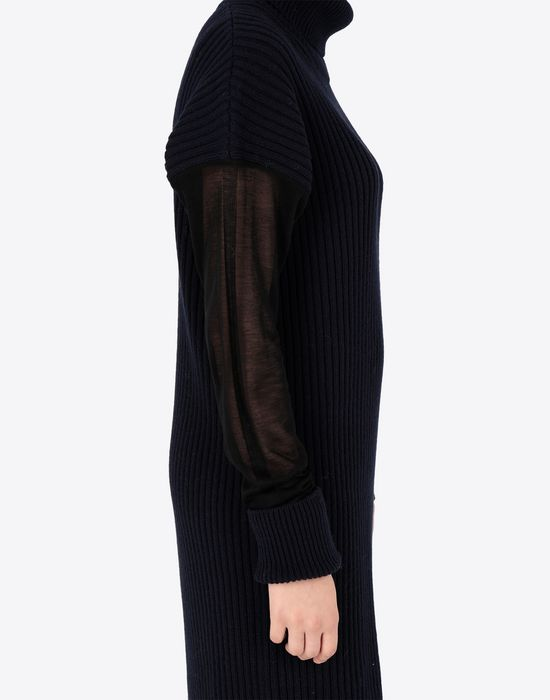 MAISON MARGIELA Long sweater with mesh sleeves High neck sweater [*** pickupInStoreShipping_info ***] a