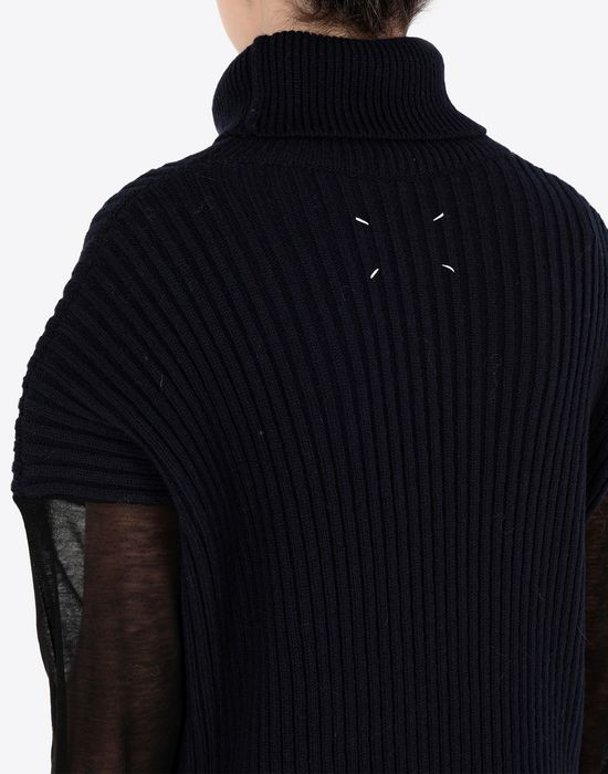 MAISON MARGIELA Long sweater with mesh sleeves High neck sweater [*** pickupInStoreShipping_info ***] b