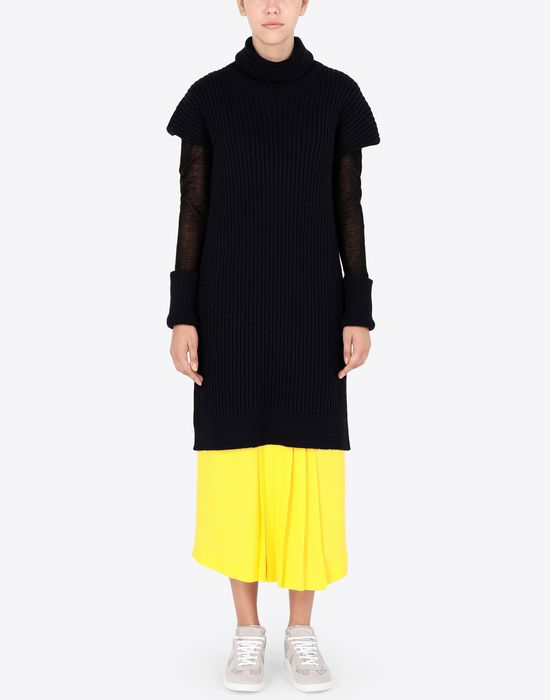 MAISON MARGIELA Long sweater with mesh sleeves High neck sweater [*** pickupInStoreShipping_info ***] d