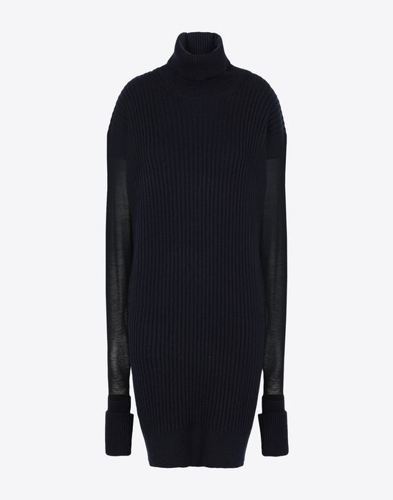 MAISON MARGIELA Long sweater with mesh sleeves High neck sweater [*** pickupInStoreShipping_info ***] f