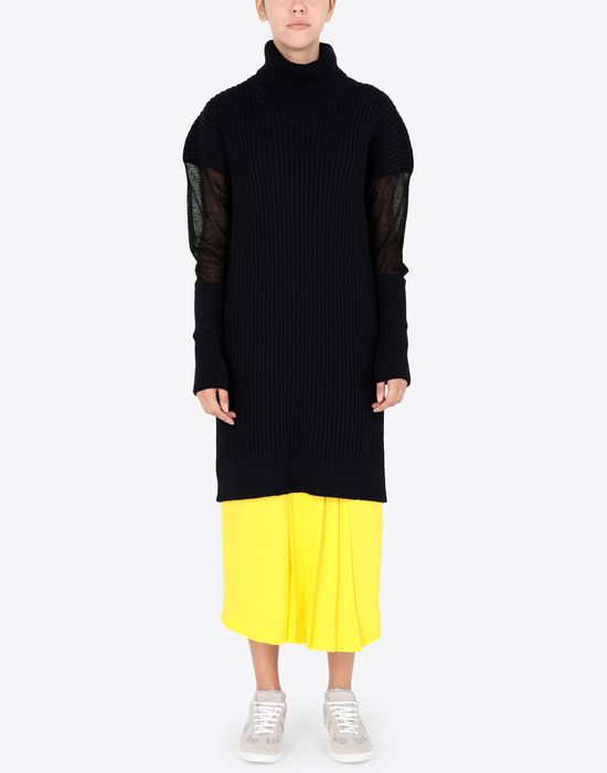 MAISON MARGIELA Long sweater with mesh sleeves High neck sweater [*** pickupInStoreShipping_info ***] r