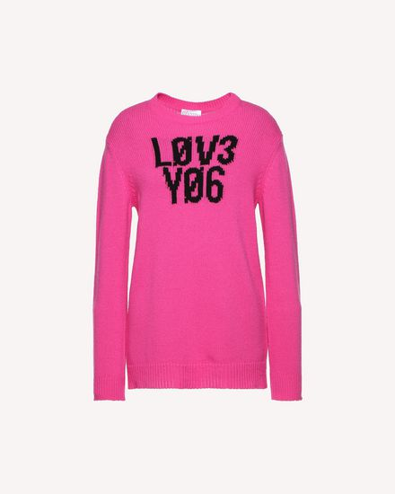 "Wool jacquard ""Love You"" jumper"