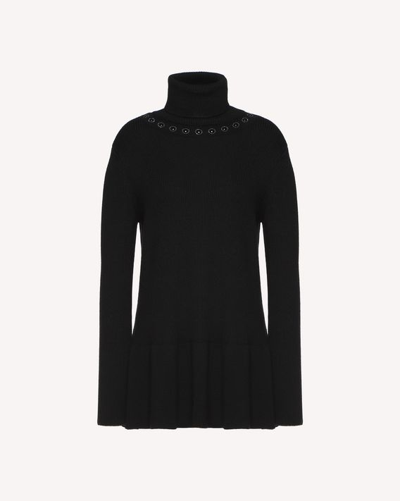 REDValentino Wool sweater with sparking ball details