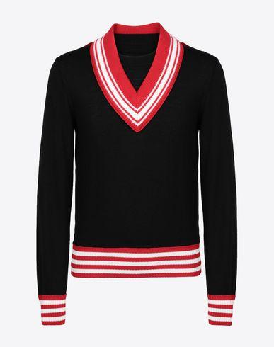 MAISON MARGIELA Crewneck [*** pickupInStoreShippingNotGuaranteed_info ***] Décortiqué jersey sweatshirt f