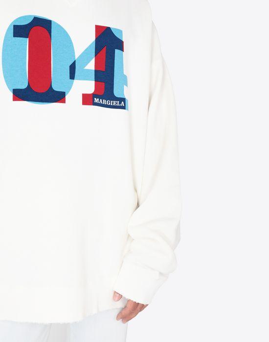 MAISON MARGIELA Printed jersey sweatshirt Sweatshirt [*** pickupInStoreShippingNotGuaranteed_info ***] a