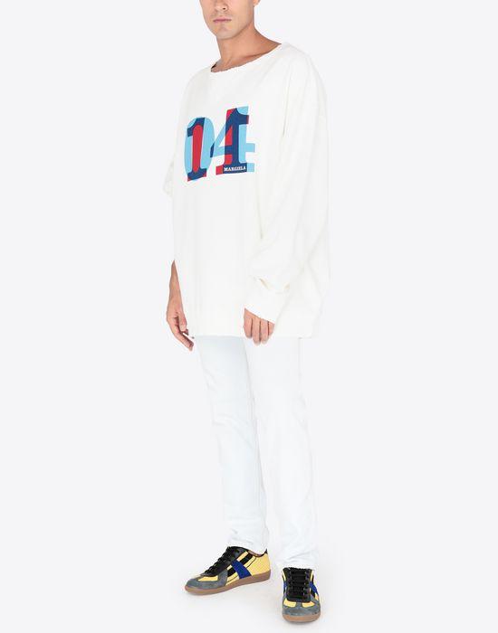 MAISON MARGIELA Printed jersey sweatshirt Sweatshirt [*** pickupInStoreShippingNotGuaranteed_info ***] d