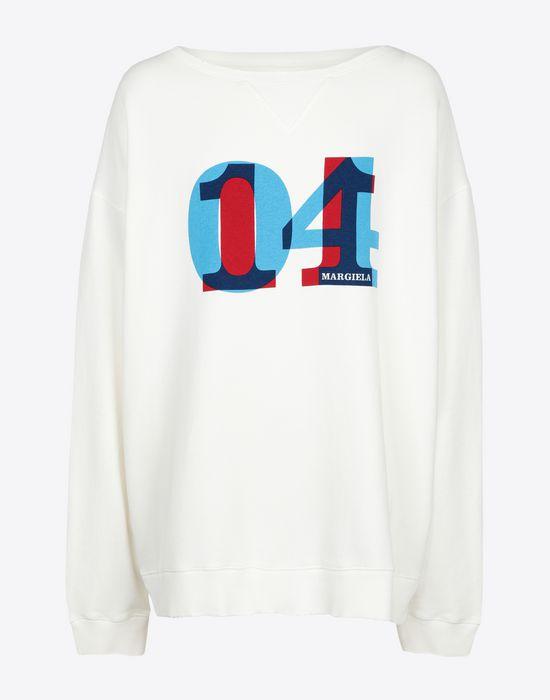 MAISON MARGIELA Printed jersey sweatshirt Sweatshirt [*** pickupInStoreShippingNotGuaranteed_info ***] f
