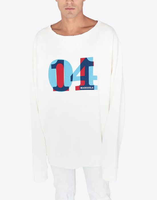 MAISON MARGIELA Printed jersey sweatshirt Sweatshirt [*** pickupInStoreShippingNotGuaranteed_info ***] r