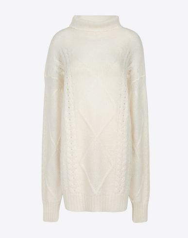 MAISON MARGIELA Long sleeve sweater Woman Diamond braided oversized knitted jumper f
