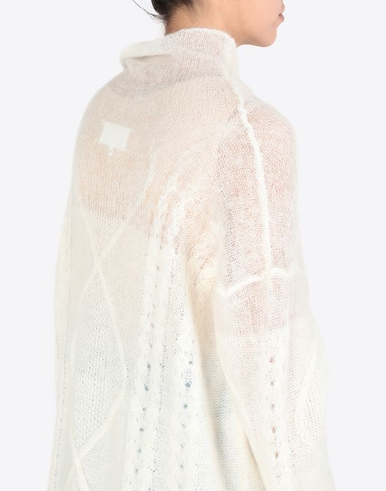 MAISON MARGIELA Diamond braided oversized knitted jumper Long sleeve sweater [*** pickupInStoreShipping_info ***] a
