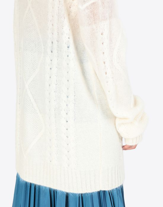 MAISON MARGIELA Diamond braided oversized knitted jumper Long sleeve sweater [*** pickupInStoreShipping_info ***] b