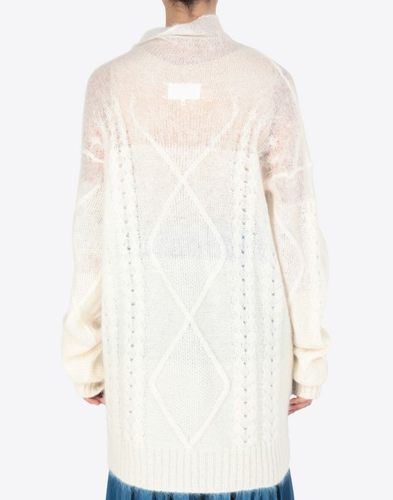 MAISON MARGIELA Diamond braided oversized knitted jumper Long sleeve sweater [*** pickupInStoreShipping_info ***] e