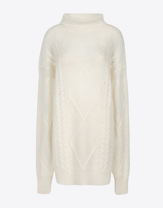 MAISON MARGIELA Diamond braided oversized knitted jumper Long sleeve sweater [*** pickupInStoreShipping_info ***] f