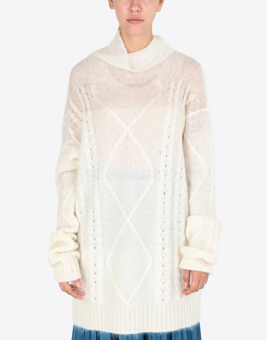MAISON MARGIELA Diamond braided oversized knitted jumper Long sleeve sweater [*** pickupInStoreShipping_info ***] r