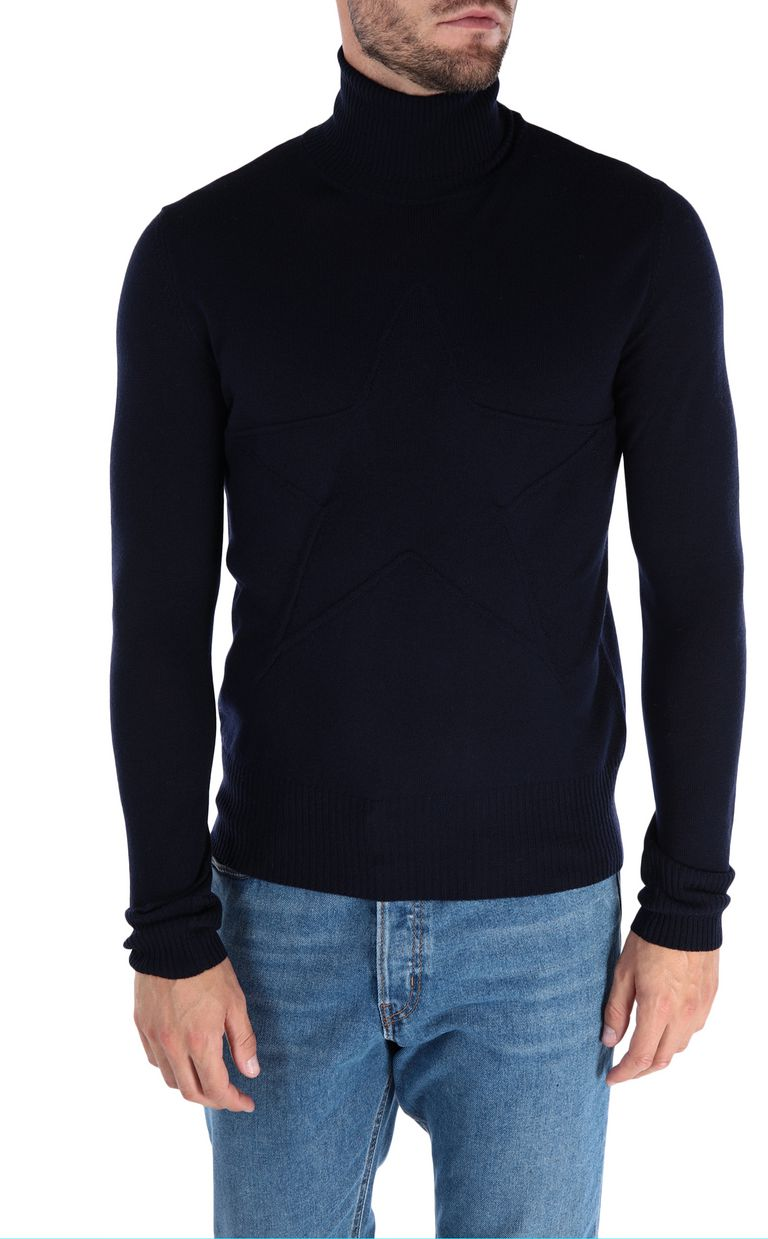 JUST CAVALLI Jacquard carpet pullover High neck sweater Man f